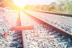 Οι διαδρομές σιδηροδρόμου απαριθμούν κοντά επάνω Στοκ Εικόνες