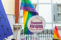Οι διαμαρτυρόμενοι γυναικών συναθροίζουν σε kadikoy, Ιστανμπούλ, Τουρκία Στοκ φωτογραφίες με δικαίωμα ελεύθερης χρήσης