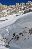 οι δολομίτες το χιόνι Στοκ φωτογραφίες με δικαίωμα ελεύθερης χρήσης