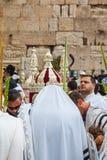 Οι Εβραίοι των τελετουργικών ενδυμάτων - tallit Στοκ Φωτογραφία