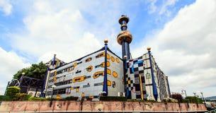 Οι εγκαταστάσεις αποτέφρωσης Spittelau στη Βιέννη, Αυστρία Στοκ εικόνα με δικαίωμα ελεύθερης χρήσης