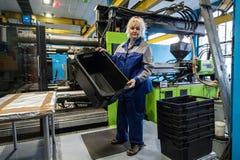Οι εγκαταστάσεις για την επεξεργασία πλαστικών Στοκ Εικόνα