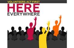 Οι εθελοντές ενεργούν πρώτα εδώ όπου απεικόνιση αποθεμάτων