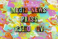 Οι ειδήσεις MEDIA πιέζουν τη ραδιο TV διανυσματική απεικόνιση