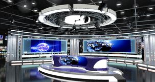 Οι εικονικές ειδήσεις TV θέτουν 1 Στοκ Φωτογραφία
