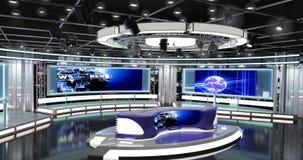Οι εικονικές ειδήσεις TV θέτουν 1 Στοκ φωτογραφία με δικαίωμα ελεύθερης χρήσης