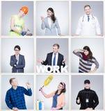 Οι εικόνες των ανθρώπων διαμορφώνουν τα διαφορετικά επαγγέλματα Στοκ εικόνα με δικαίωμα ελεύθερης χρήσης