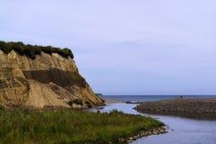 Οι εκβολές ενός μικρού ποταμού Στοκ εικόνα με δικαίωμα ελεύθερης χρήσης
