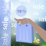 Οι εκπτώσεις μεταπώλησης είναι δέκα τοις εκατό ελεύθερη απεικόνιση δικαιώματος