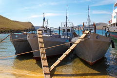 Οι δεμένες μικρές βάρκες Στοκ φωτογραφία με δικαίωμα ελεύθερης χρήσης