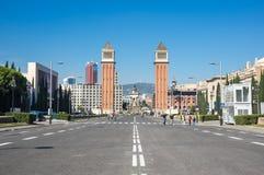 Οι ενετικοί πύργοι στη Βαρκελώνη Στοκ φωτογραφίες με δικαίωμα ελεύθερης χρήσης