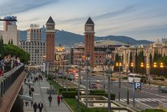 Οι ενετικοί πύργοι στη Βαρκελώνη Στοκ εικόνες με δικαίωμα ελεύθερης χρήσης