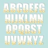 Οι εορταστικές επιστολές αλφάβητου πολυτέλειας με τη γοητεία χρυσή ακτινοβολούν κομφετί ελεύθερη απεικόνιση δικαιώματος