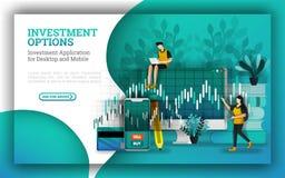 Οι επίπεδες απεικονίσεις για τις κορυφαίες επιχειρήσεις αμοιβαίων κεφαλαίων παρέχουν τις επιλογές να απαντηθεί πώς να επενδύσουν  διανυσματική απεικόνιση