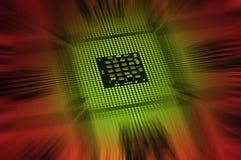 Οι επεξεργαστές υπολογιστών ευθυγράμμισαν με το αφηρημένο postproduction αποτελεσμάτων φωτισμού Στοκ φωτογραφία με δικαίωμα ελεύθερης χρήσης