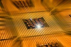 Οι επεξεργαστές υπολογιστών ευθυγράμμισαν με το postproduction αποτελεσμάτων φωτισμού Στοκ εικόνες με δικαίωμα ελεύθερης χρήσης
