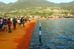 Οι επιπλέουσες αποβάθρες, λίμνη Iseo, Ιταλία Στοκ εικόνες με δικαίωμα ελεύθερης χρήσης