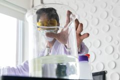 Οι επιστήμονες εργάζονται στοκ φωτογραφία με δικαίωμα ελεύθερης χρήσης