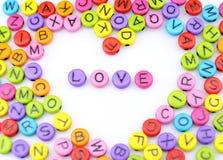 Οι επιστολές «αγάπης» λέξης Στοκ Εικόνες