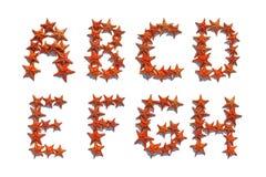 Οι επιστολές αλφάβητου έκαναν του πραγματικού αστερία Α στο Χ Στοκ φωτογραφία με δικαίωμα ελεύθερης χρήσης