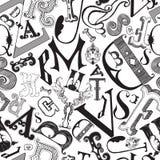 Οι επιστολές σε έναν χαοτικό βρωμίζουν Στοκ Εικόνες