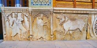 Οι επιτροπές πετρών του σπιτιού Qavam, Shiraz, Ιράν Στοκ εικόνα με δικαίωμα ελεύθερης χρήσης