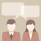 Οι επιχειρηματίες έχουν τις ιδέες σχετικά με τα κεφάλια Στοκ Εικόνες