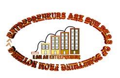 Οι επιχειρηματίες είναι οικοδόμοι κάτι από τίποτα ελεύθερη απεικόνιση δικαιώματος