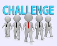 Οι επιχειρηματίες πρόκλησης παρουσιάζουν τις δυσκολίες και επιχειρηματία τρισδιάστατη απόδοση διανυσματική απεικόνιση