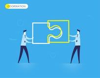 Οι επιχειρηματίες συνδέουν το γρίφο Στοκ Εικόνες