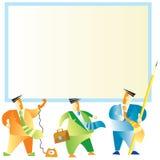 οι επιχειρηματίες χαρτ&omicron Διανυσματική απεικόνιση