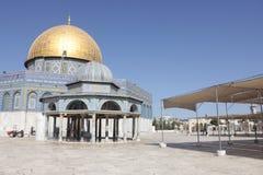Οι λεπτομέρειες του θόλου του βράχου στο ναό τοποθετούν στην Ιερουσαλήμ στοκ εικόνες