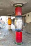 Οι λεπτομέρειες Hundertwasser στεγάζουν στη Βιέννη, Αυστρία Στοκ Φωτογραφία