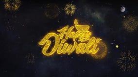 Οι ευτυχείς επιθυμίες κειμένων Diwali Shubh αποκαλύπτουν από τη ευχετήρια κάρτα μορίων πυροτεχνημάτων διανυσματική απεικόνιση
