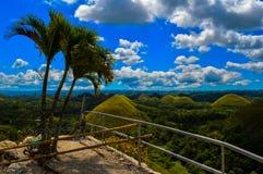 Οι ζαλίζοντας λόφοι σοκολάτας Bohol, Φιλιππίνες Στοκ Εικόνες