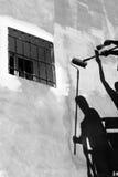 οι ζωγράφοι εργάζονται Στοκ φωτογραφία με δικαίωμα ελεύθερης χρήσης