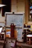Οι ζωγράφοι Montmartre τοποθετούν τον καμβά du Tertre Στοκ Φωτογραφία