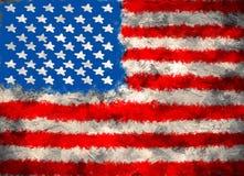 Οι Ηνωμένες Πολιτείες της Αμερικής σημαιοστολίζουν το σκυρόδεμα Στοκ εικόνα με δικαίωμα ελεύθερης χρήσης