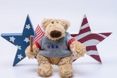 Οι ΗΠΑ αντέχουν με τα αστέρια σημαιών Στοκ Φωτογραφίες