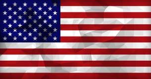Οι ΗΠΑ σημαιοστολίζουν το χαμηλό υπόβαθρο πολυγώνων Στοκ εικόνες με δικαίωμα ελεύθερης χρήσης