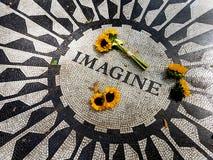 Οι ηλίανθοι στο Central Park φαντάζονται το μωσαϊκό - Νέα Υόρκη, ΗΠΑ στοκ φωτογραφία με δικαίωμα ελεύθερης χρήσης