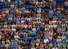 Οι θεατές σε Hopman κοιλαίνουν στοκ εικόνα