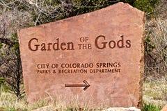οι Θεοί κήπων υπογράφουν στοκ φωτογραφία με δικαίωμα ελεύθερης χρήσης