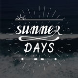 Οι θερινές ημέρες δίνουν τη γραπτή εγγραφή Στοκ Εικόνες