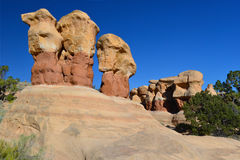 Οι διάβολοι καλλιεργούν, μεγάλη σκάλα escalante, Utah, Ηνωμένες Πολιτείες στοκ φωτογραφία με δικαίωμα ελεύθερης χρήσης