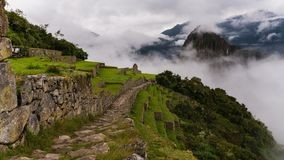 Οι διάσημες καταστροφές inca του picchu machu στο Περού Στοκ Φωτογραφία