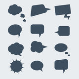 οι διαθέσιμες μορφές φυσαλίδων eps8 jpeg θέτουν την ομιλία Στοκ Φωτογραφίες