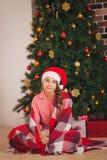 Οι διακοπές, παρουσιάζουν, Χριστούγεννα, παιδική ηλικία και Στοκ Εικόνες