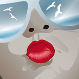 Οι διακοπές, φιλούν τον ουρανό Στοκ Φωτογραφίες