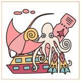 Οι διακοπές doodles έθεσαν διανυσματική απεικόνιση